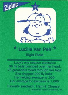Ziploc Peanuts All Stars Cards