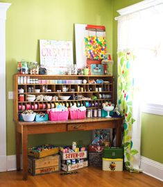 craft supply display