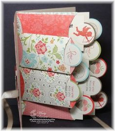Create with Connie & Mary (step by step) this lovely mini envelopes album Mini Albums, Mini Scrapbook Albums, Scrapbook Paper Crafts, Scrapbook Cards, Scrapbook Photos, Ps I Love, Handmade Books, Card Tutorials, Bookbinding