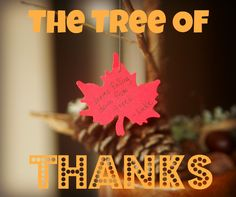 {Thinking Ahead to Thanksgiving: The Tree of Thanks} What a sweet idea! I am just in love with this simple concept. Anyone else going to join me in doing this in November?
