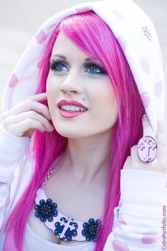 great shade of fuchsia hair