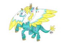 Someone tell me what I have just created... its some sort of Pegasus dragon. ~cherrydragon6