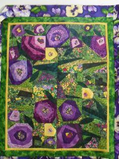 Margaret Miller Quilter | Passionate Pansies Experienced Beginner $45 + book