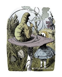 Vintage Alice in Wonderland Art Print  The by TypePosters on Etsy, $15.00