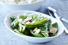 Honeyed snow peas main image