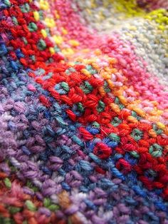Swappy Scrappy Scarf by ladydanio, via Flickr