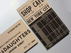 Made a teeny business card map of the lower east side for Russ & Daughters this summer. (Catching up on posting work!)