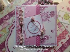 Fasters korthus: Pink flower card no 3