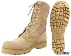 Desert Tan -Sierra Lug Sole Military Desert Boots (Leather), 8 5257 Size 8W Army Universe - PinBuy