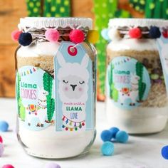 Items similar to Llama Cookies in a Jar – Cookie Jar labels – Recipe Stickers – Llama Party Favors - Shopkins Party Ideas Llama Birthday, 2nd Birthday, Birthday Ideas, Food Stickers, Recipe Stickers, Jar Cookie, Cute Gifts, Diy Gifts, Diy Shower