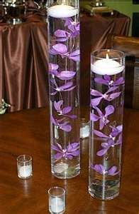 Purple Floating Candle Centerpiece