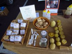 Beeswax soap, candles & lip balm at Alachua County Farmers' Market in Gainesville, FL.