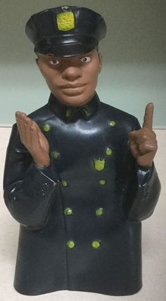 RARE Vintage 1968 Childcraft African American Police Officer Rubber Handpuppet | eBay