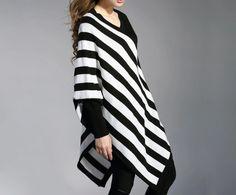 Mujeres Negro irregular del suéter 93  de Deboy2000 por DaWanda.com