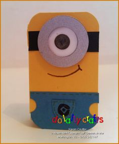 Minion Tic Tac Cover - Front - DoLallyCrafts Minions Tutorial using Stampin' Up! Products