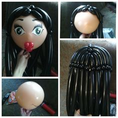 Another hair option with 3 points. Can use pinch twists or bubbles to attach