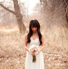 Woodland Bridal Shoot In The Golden Afternoon Light