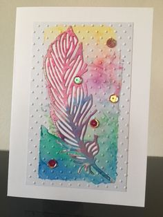 I love feathers Feather Cards, Craft Shop, Old Ones, Handmade Cards, Feathers, Charity, Craft Supplies, Card Making, Colours