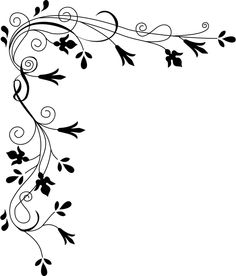 Stylized Flowers (Border) by cyberscooty - floral border decoration
