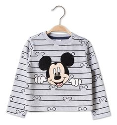 Baby-T-Shirt in grau