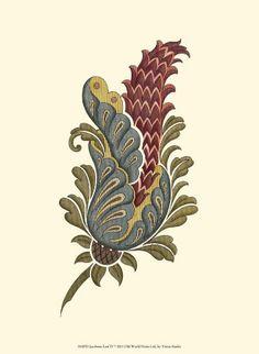 Printable - Jacobean Leaf IV Print
