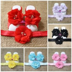 Princessory Baby Barefoot Sandals and a Matching Headband  - Barefoot sandals add a perfect touch to any occasion. - Great Gift Item - Perfect for Baby Photo Prop - Comfortable, Stylish, and Fun! - Various colors available  Sandal Sizes  Small - 0-6 mos Sandals Large - 6- 12 mos Sandals   Headband Sizes  0-3 mos: 13 headband 3-6 mos: 14 headband 6-12 mos: 15 headband   ***This listing is for Princessory Baby Barefoot Sandals and Headband SET    KEEP SHOPPING WITH US: https://www.ets...
