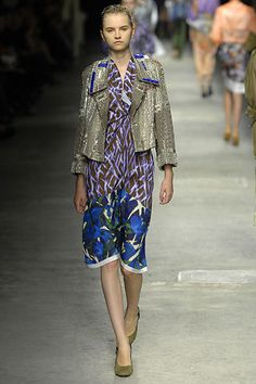 Dries Van Noten Spring 2008 Ready-to-Wear Fashion Show - Anabela Belikova (SILENT)