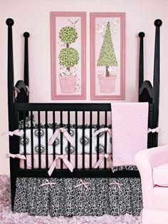 Baby Girl Nurseries - Nursery Ideas - Slideshowcheck out this crib.  4 poster crib~~