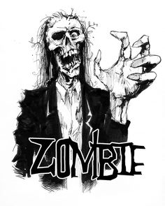 Zombie Sketched Pencil Art Graphic and Picture Zombie Pics, Zombie 2, Zombie Apocalypse, Colorful Drawings, Cool Drawings, Drawing Sketches, Zombie Background, Zombie Illustration, Zombie Drawings