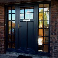 Modern Windows And Front Doors Ideas House Front Door, Glass Front Door, Front Doors, Exterior Remodel, Exterior Doors, Porches, Composite Front Door, Garage Door Design, Double Entry Doors