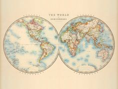 Antique map of the world  Vintage world map  by AncientShades, $45.00