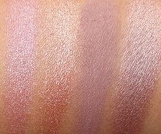 Urban Decay Naked3 swatches from the left: Buzz, Trick, Nooner and Liar, November 2013