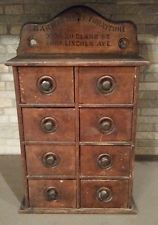 Antique Primative Wooden Drawer Jewelry Box Cabinet Chicago, IL Barwig Bros Furn