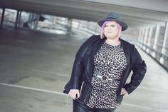Plus Size Animal Print Shirt by New Look, Fake-Leather Leggings by Asos Curve