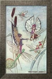 Fairies Riding Dragonflies and Bees