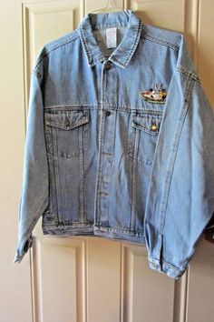 Vtg Looney Tunes Denim Jacket 1990s Sylvester Bugs Bunny Tweety Bird Daffy Duck  #LooneyTunes #Everyday