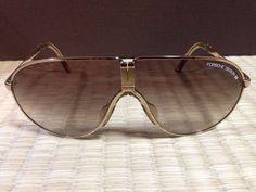 Porsche Sunglasses (Men's Pre-owned Gold & Gray Design Carrera Folding Aviator German Designer Sun Glasses)