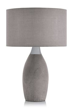 Buy Concrete And Chrome Table Lamp from the Next UK online shop