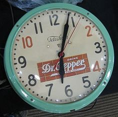 I love antique clocks - especially red and blue ones!