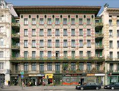 Unique Art Nouveau building; Majolikahaus, Vienna, 1899. Designed by Otto Wagner.