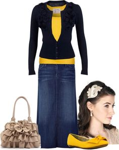 """Sunny Day"" by audge999 ❤ liked on Polyvore/ dont like  skirt at all would wear with jeans"