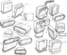 Sketch by Xue Meng at Coroflot.com Id Design, Form Design, Sketch Design, Product Design Sketching, Product Sketch, Thumbnail Sketches, Visual Communication Design, Line Sketch, Swiss Design