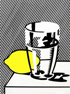 scandinaviancollectors:  Roy Lichtenstein (American, 1923 - 1997), Untitled (Still Life with Lemon and Glass), 1974. Serigraph, 35/100. / WV Culture