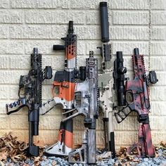 Guns: ・・・ Look at all the colors! My bud showing off all this sexy. Gun Vault, Ar Pistol, Cool Guns, Guns And Ammo, Self Defense, Usmc, All The Colors, Hand Guns, Badass
