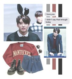 """""""Jeon JungKook"""" by lazy-alien ❤ liked on Polyvore featuring WithChic, ZeroUV, country, bts, jungkook, jeonjungkook and HappyBDayKookie"""