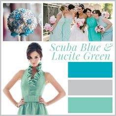 scuba blue wedding ideas