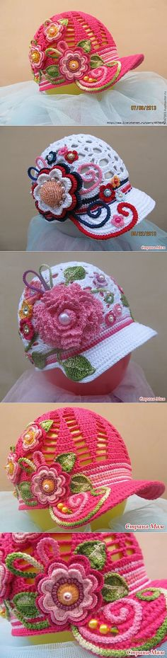 Exceptional Stitches Make a Crochet Hat Ideas. Extraordinary Stitches Make a Crochet Hat Ideas. Crochet Summer Hats, Crochet Girls, Crochet Baby Hats, Crochet Beanie, Crochet Clothes, Bonnet Crochet, Crochet Cap, Irish Crochet, Crochet Stitches