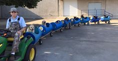 Eugene Bostick, an 80-year-old retiree in Fort Worth, Texas, spends his days operating what just might be the coolest train in the world. His homemade dog train takes rescued strays out for fun rides around the neighborhood and in the surrounding woods.