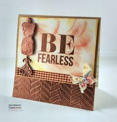 Create the look of embossed METAL - this tutorial shows how to combine dry embossing (embossing folders) and heat embossing (or wet embossing) to make paper look like metal. This card features Craftwell embossing folders and Teresa Collins ColorBox Pigmen