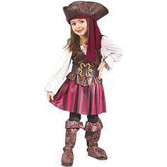 Childs Toddler High Seas Girls Pirate Costume 2T ** You can get more details by clicking on the image.